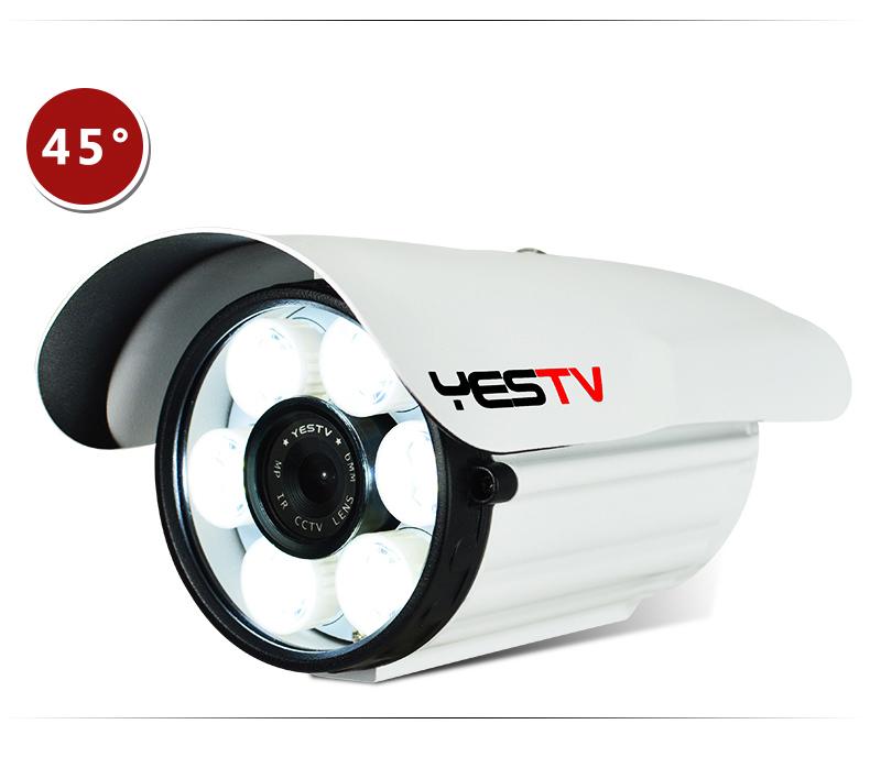 白光灯模拟监视器摄像头高清夜视线日夜全綵色户外安防监视器详细照片