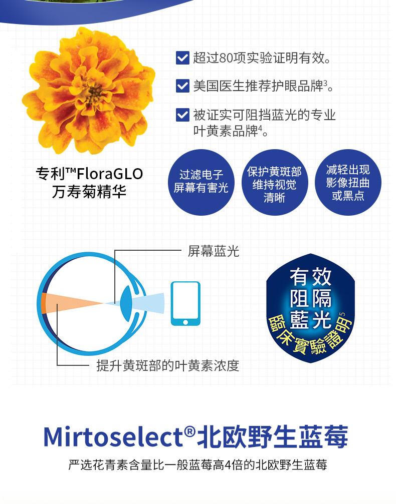 CATALO家得路美国进口青少年叶黄素儿童视力蓝莓护眼胶囊成人视力 产品系列 第7张