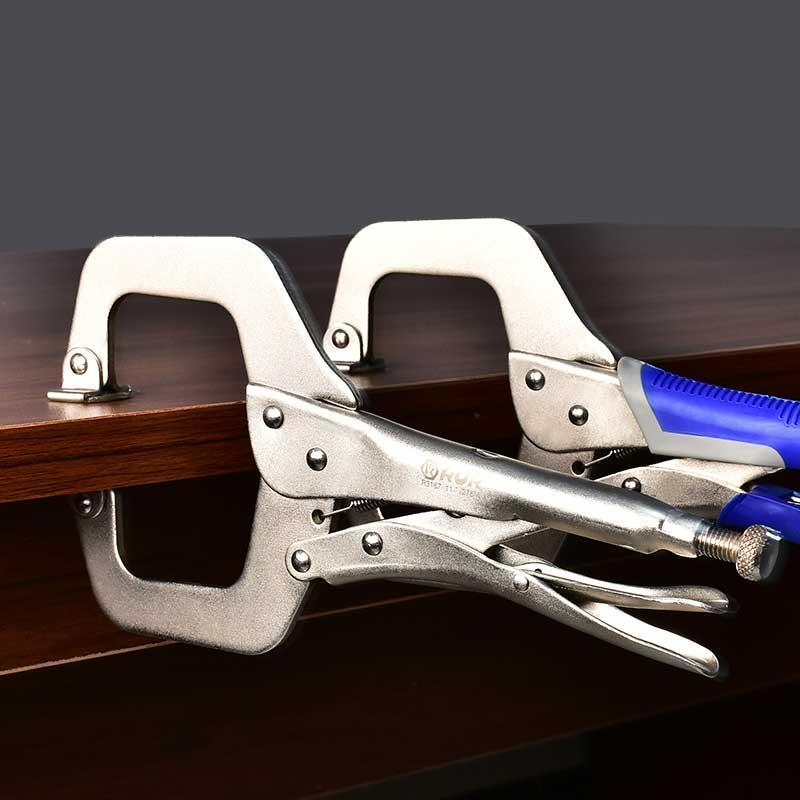 c型大力钳子大开口多功能大力夹钳万用压力钳宽口木工固定大力钳