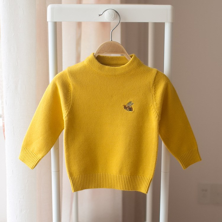 6-1287 months 8 babies and children dressed plus-velvet sweaters 0 3-year-old baby girl autumn and winter bottom knitted sweater