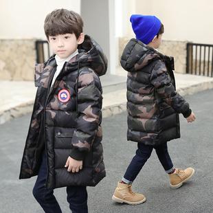 童装男童中长款冬装棉衣外套