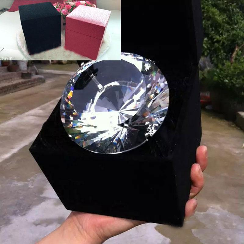 Pha lê oversized Diamond Ring Kim cương lớn Nhẫn cưới Set đạo cụ Quà tặng ngày Valentine cho bạn gái Quà tặng sinh nhật - Nhẫn