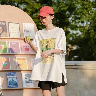 蜜妃儿2020年新款短袖宽松t恤女夏季学生百搭纯棉上衣ins潮