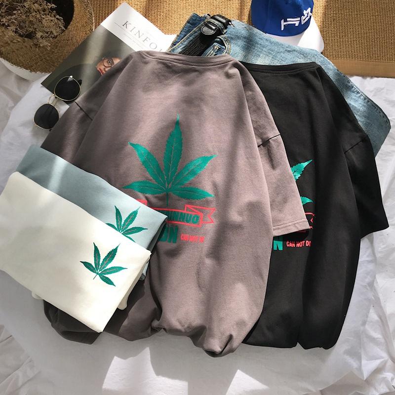 原宿潮牌短袖T恤男夏季新款休闲欧美bf风青少年韩版宽松大码体恤