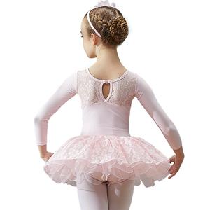 咔萌琪舞蹈服儿童女秋冬长袖芭蕾舞裙幼儿练功服中国舞女孩跳舞服