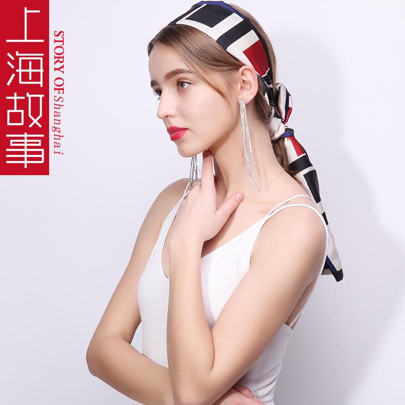 上海故事围巾女春秋细窄长条小丝巾夏季脖子韩国装饰长款百搭领巾