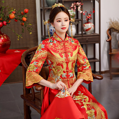 Chinese Wedding Show Wo Clothes Bride Wedding Hanfu Wedding Dresses Ancient Chinese Wind Wedding Dresses