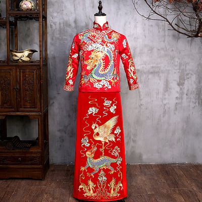 Men Wedding Dress Suit Groom Chinese Dress Dragon and Phoenix Wear Trend Chinese Style Men&aposs Dress Tang Dynasty Traditional Chinese Clothing