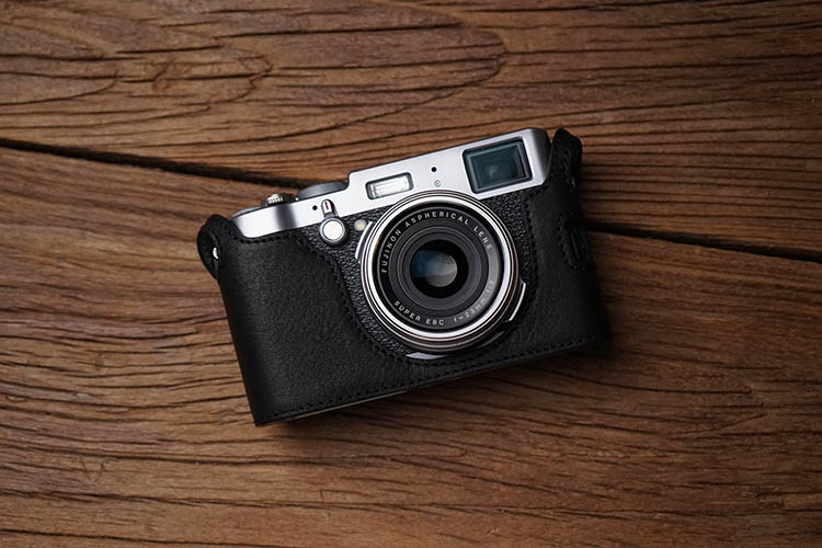 60 58] Mr  Stone Fuji X100F Camera Leather Cover Half
