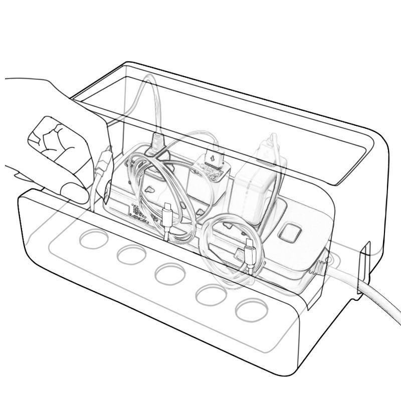大隐藏充电器容量超大v容量盒大号理电线号插排集线线盒插线板插座
