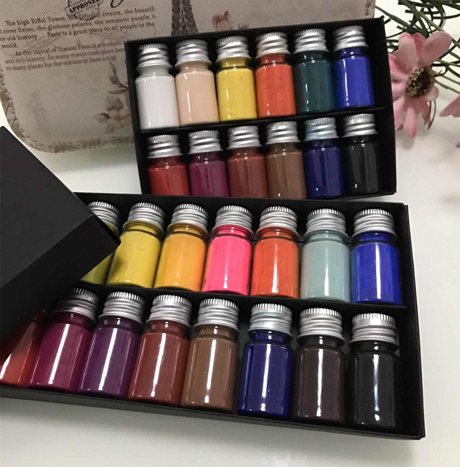 美妆素描颜料眉眼唇专用色粉矿物色粉彩色粉超细炭精粉12色包邮