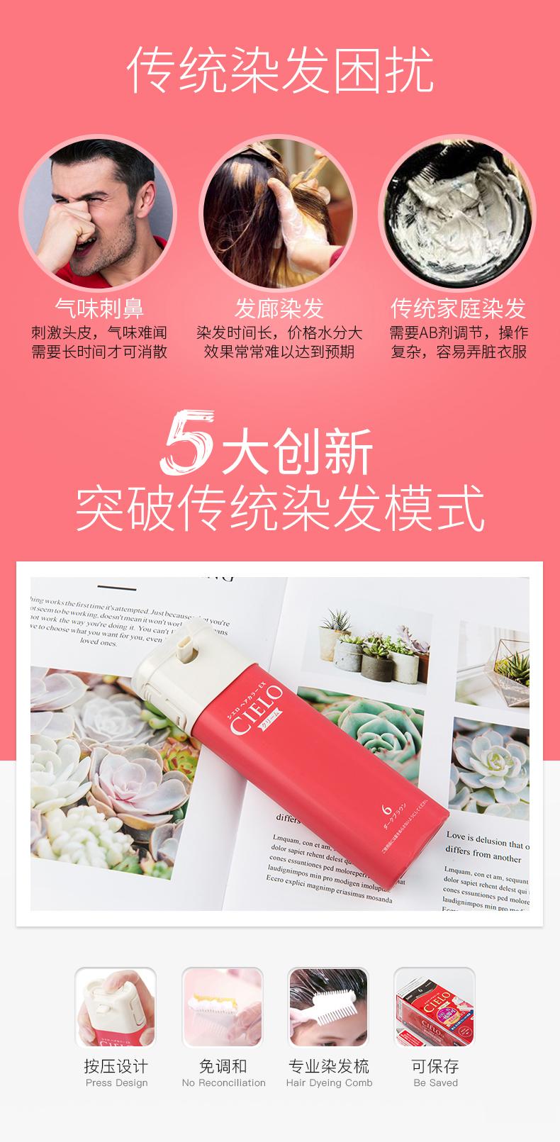 日本百年染发品牌 美源 宣若CIRLO 女士植物精华染发膏*2盒 18种色号 图4