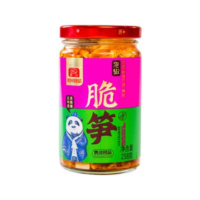 惠川泡椒脆笋258g/瓶装香辣竹笋干笋片即食零食泡椒笋尖下饭菜