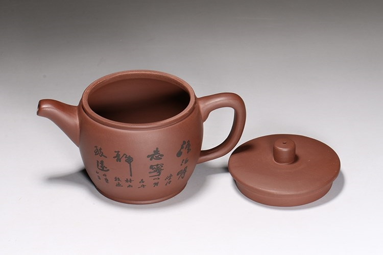 Yixing undressed ore authentic six Fang Yi all hand purple teapot tea set the teapot tea pot