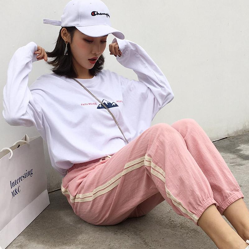 【薇蒂娅】夏季潮流卫衣九分裤两件套