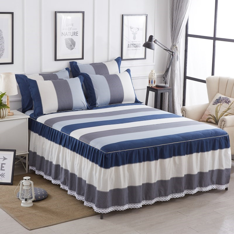Bed skirt two-in-one cotton bed skirt-style bedspread sheet 13 piece set 5 cotton 2 meters 18m non-slip 8 bed cover