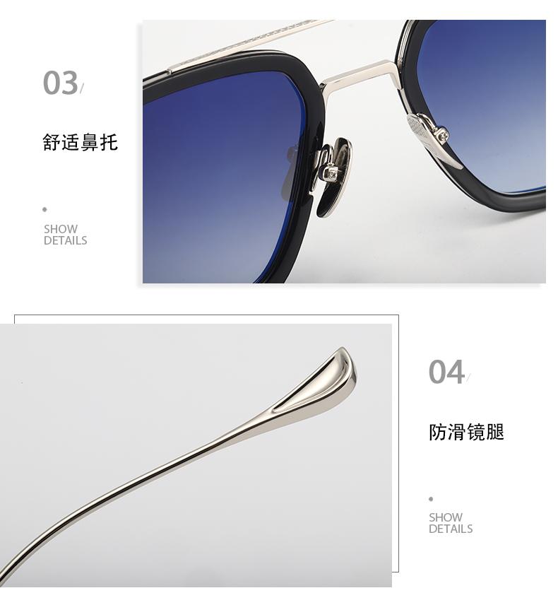 钢铁人眼镜框纯钛蜘蛛人唐尼同款太阳眼镜男潮蓝变色近视太阳眼镜伊迪斯详细照片