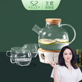 Sparkling Youpin Nordic Style Fruit Tea Glass Pot Household High Temperature Teapot Afternoon Tea Scented Tea Candle Heating