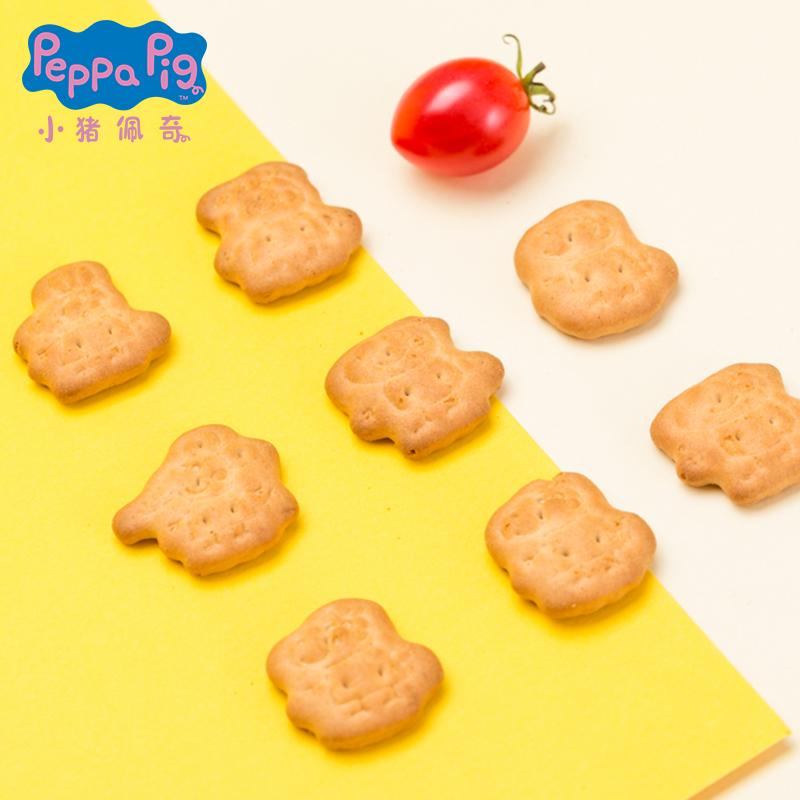 亿智小猪佩奇注心饼干巧克力草莓柠檬口味曲奇造型佩奇饼干