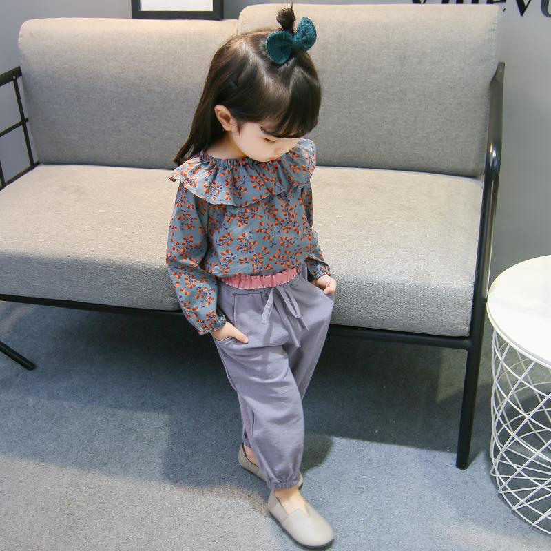 女宝宝春装新款套装一岁韩版潮洋派公主儿童套装女童套装详细照片
