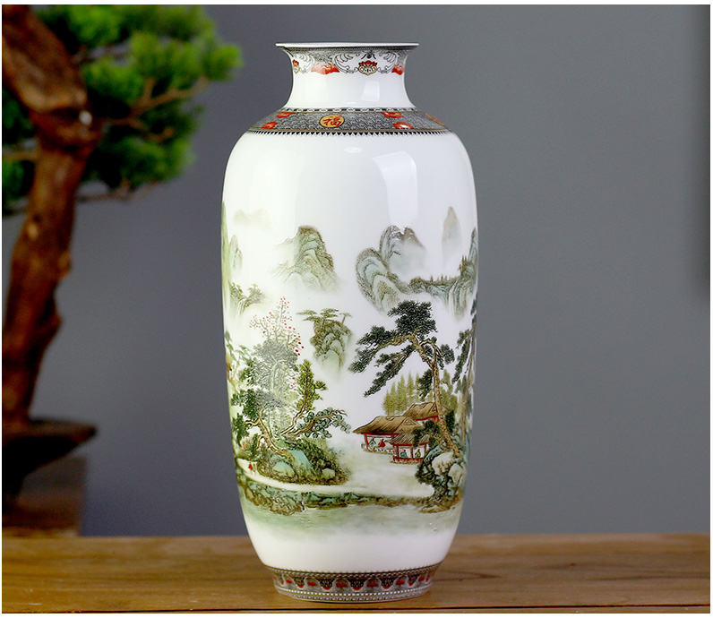 Jingdezhen ceramics mesa of I and contracted floret bottle sitting room study rich ancient frame decoration office furnishing articles