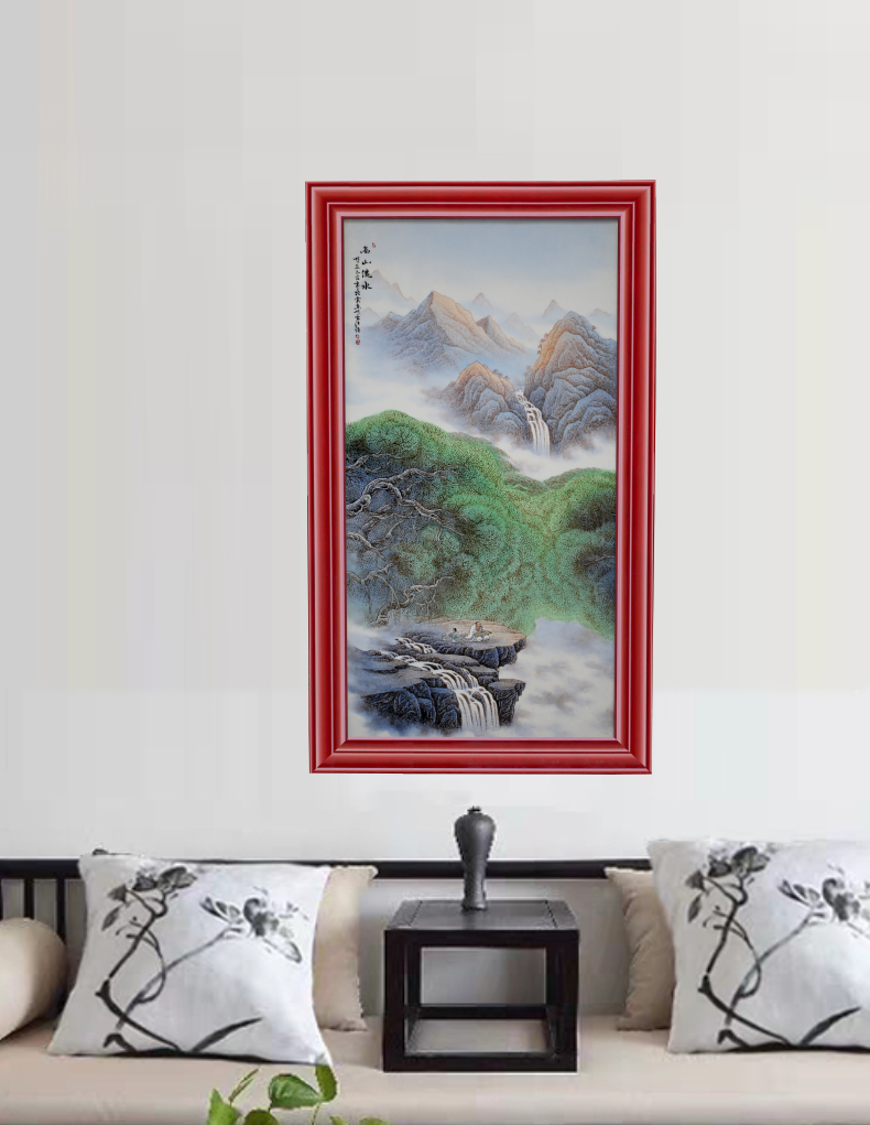 Jingdezhen porcelain plate painting new Chinese modern ceramics decoration sitting room porch wall act the role ofing to hang decorations
