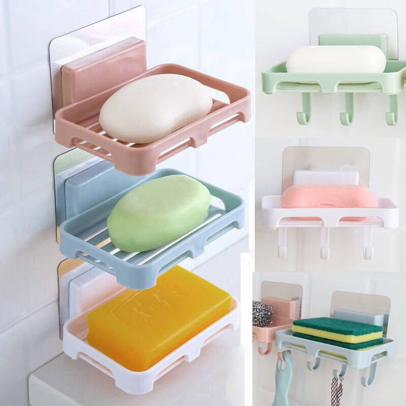 免打孔香皂三层双层沥水卫生间置物架盒子架肥皂盒虑水香皂盒批.
