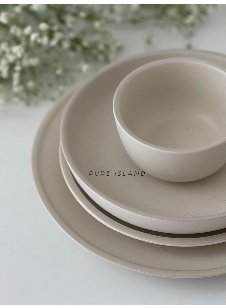 白屿北欧风莫兰迪盘碗系列家用套装盘子深盘平盘西餐盘汤碗详细照片