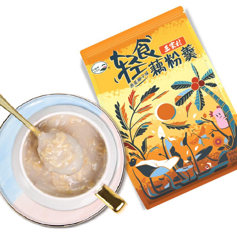三家村  燕麥椰子藕粉 600g 10.9元包郵