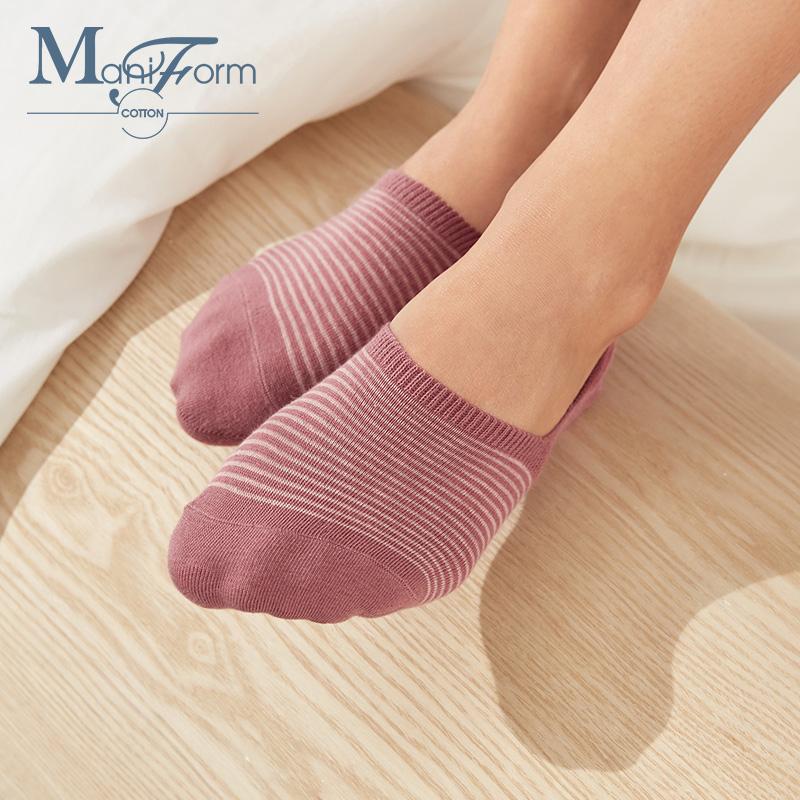 Maniform 曼妮芬 棉质生活 抗菌 女式短袜子 浅口船袜 3双 天猫优惠券折后¥25包邮(¥45-20)多色组合可选 拍3件¥59