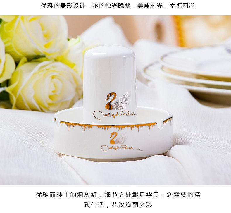 Bowl dishes suit new ipads China jingdezhen ceramic tableware tableware suit to use plate combination dishes to suit household
