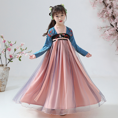 Chinese Hanfu girl childrens performance costume Chinese style ancient costume stage dress