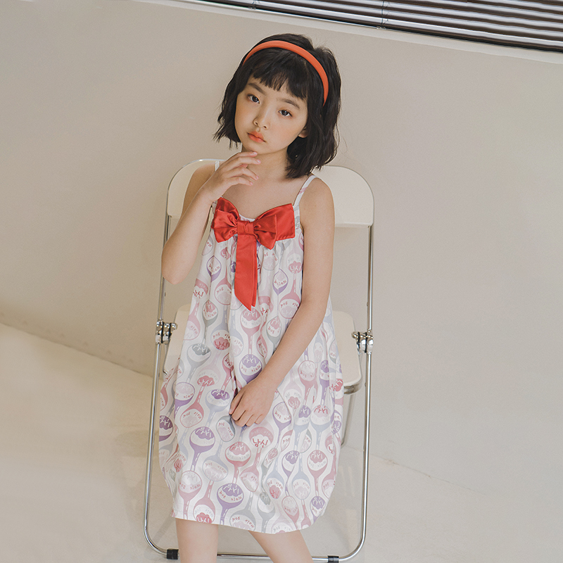 2021 Taobao Children's nightdress thin air-conditioned clothes in summer