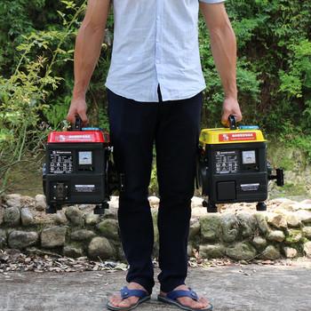 Портативный бензин генератор домой 1000w220v вольт небольшой мини цифровой преобразование частот автомобиль 1KW генератор, цена 10051 руб