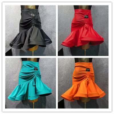 Latin Half Skirt Latin Gong Skirt Fishbone Half Skirt Dancing Skirt Latin Exercise Skirt W2