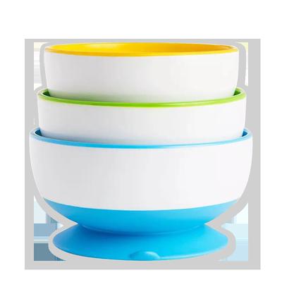 麦肯齐munchkin满趣健儿童餐具防烫婴儿辅食碗吸盘碗感温勺套装