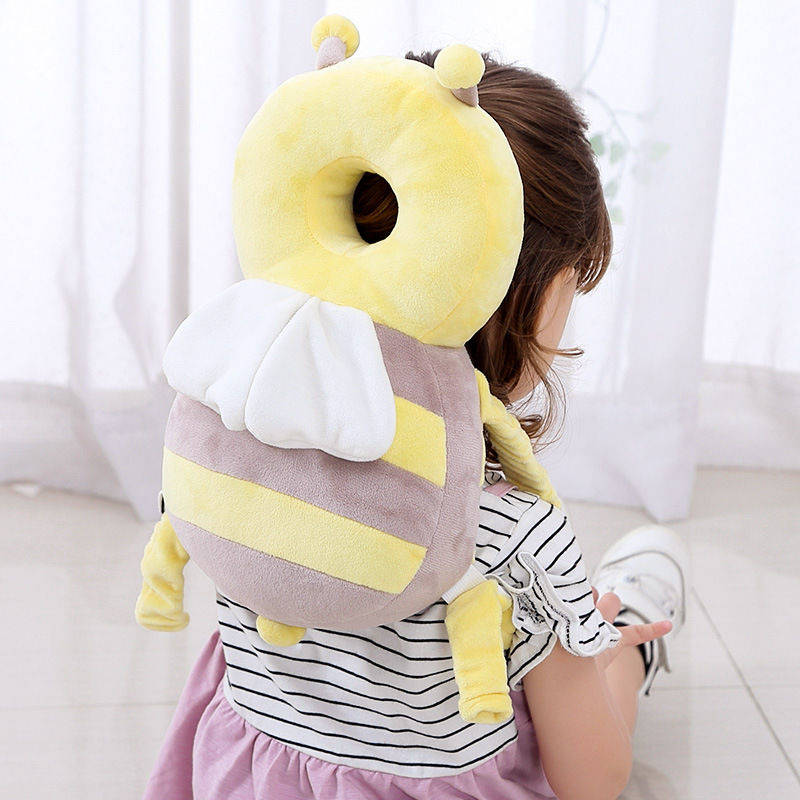 ORDINARY LARGE PLUSH GRAY BEE 35CM + HORIZONTAL BELT  VELVET STRAP WHITE CROSS BELT