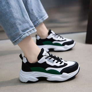 Sports shoes female Korean version 2021 spring and autumn new INS wild original homework running casual small white old shoes