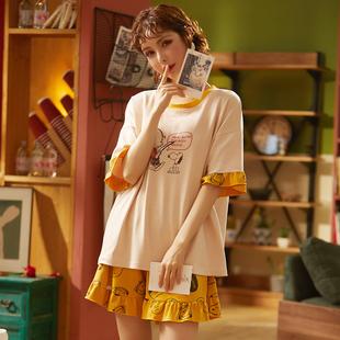 【赫伦蒂】新款纯棉睡衣两件套