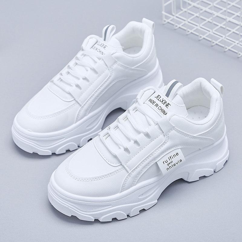 女士小白鞋厚底鞋休闲运动板鞋女鞋