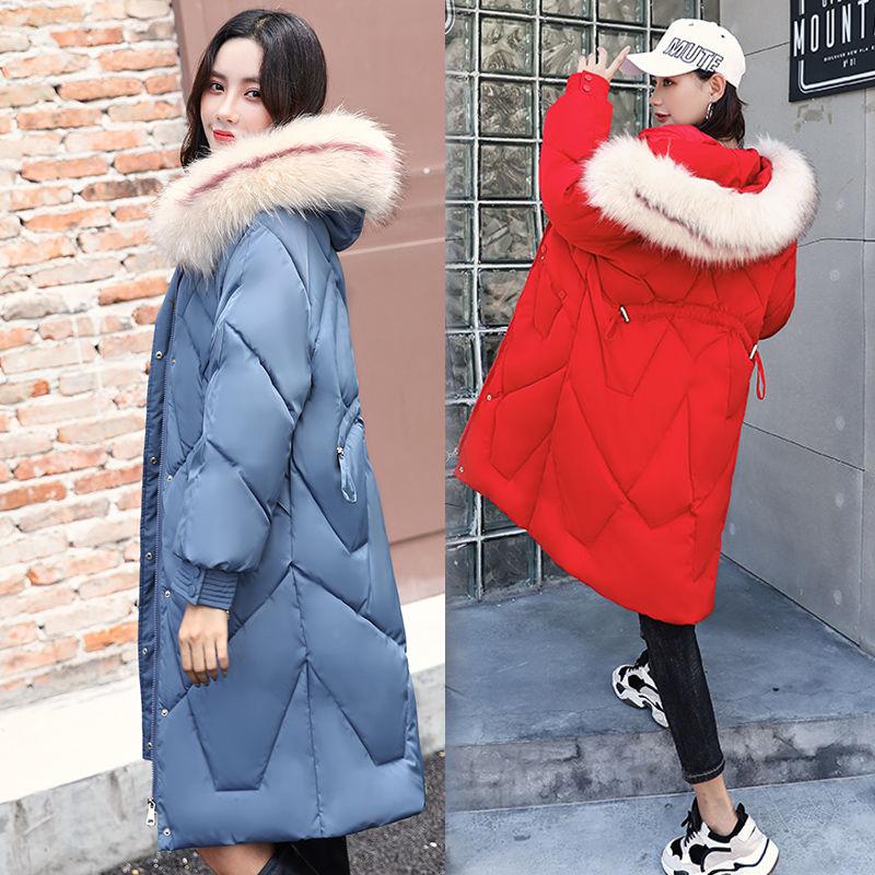 宽松大码棉衣女潮ins冬季女装2020新款中长款羽绒棉服女外套棉袄