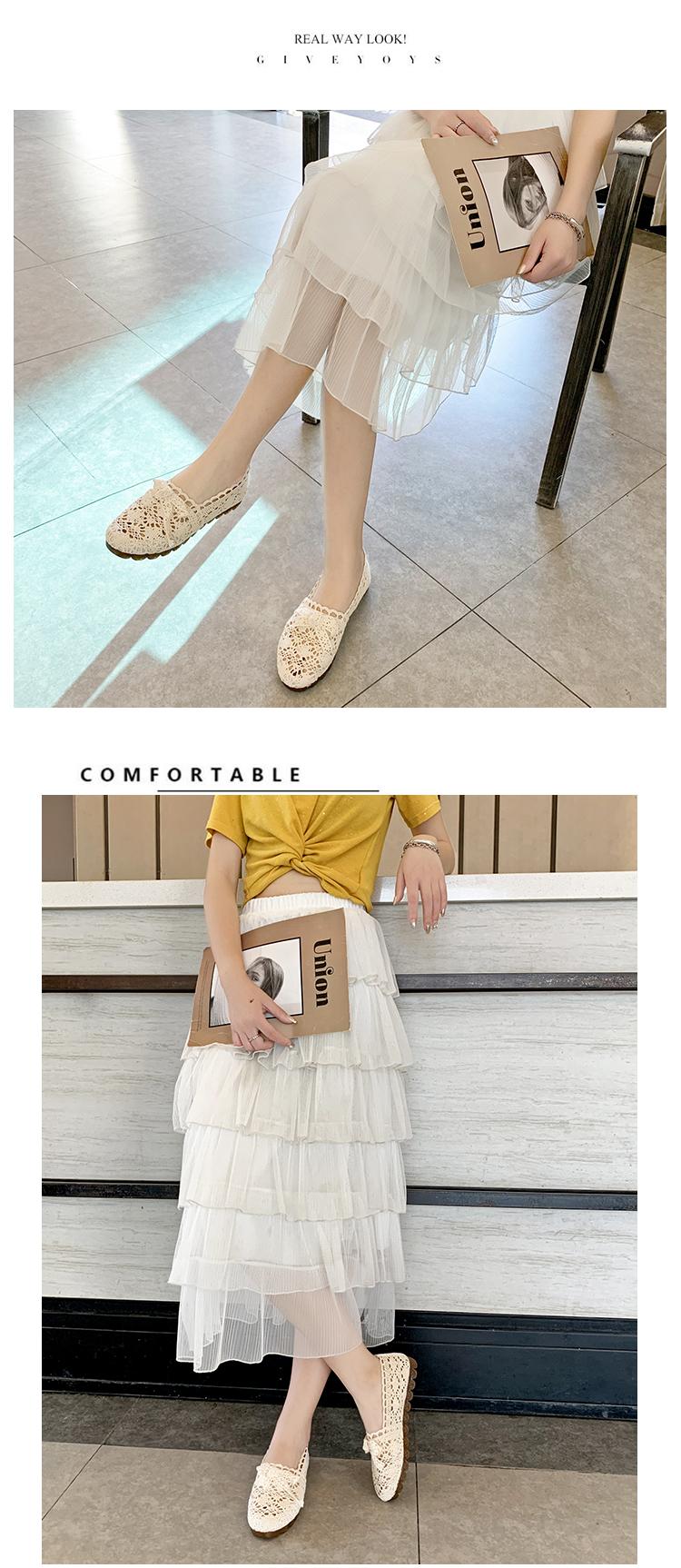 巧爱曼软底豆豆鞋女新款韩版丝带浅口懒人甜美一脚蹬平底单鞋详细照片