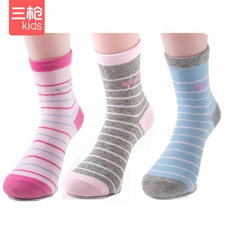 三枪 春秋款 儿童棉袜子 3双 天猫优惠券折后¥19.9包邮(¥49.9-30)男女童多款