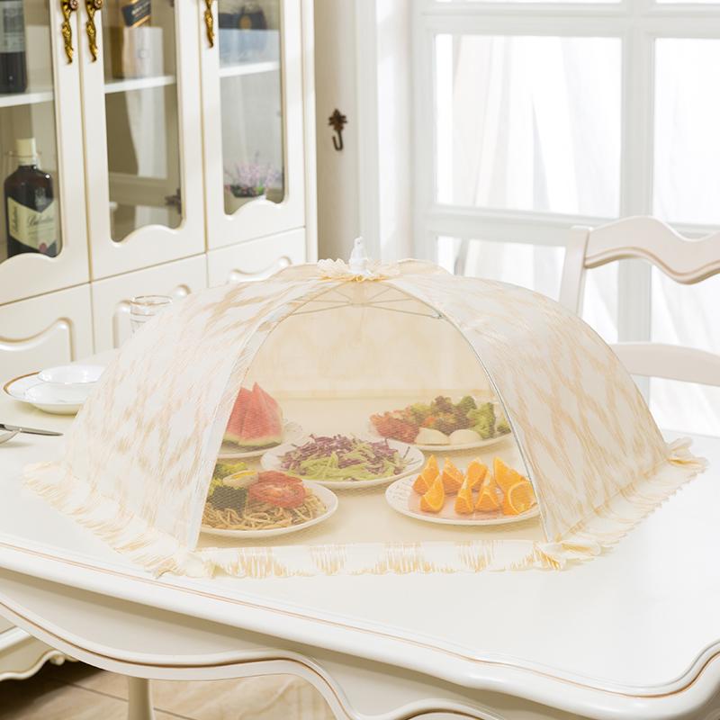 菜罩家用可折叠防尘饭菜罩子可拆洗食物罩餐桌盖菜罩防苍蝇剩菜罩