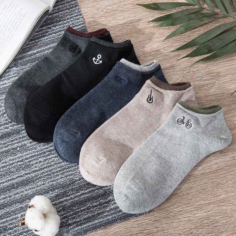 不臭脚:古桃 纯棉船袜 5双装