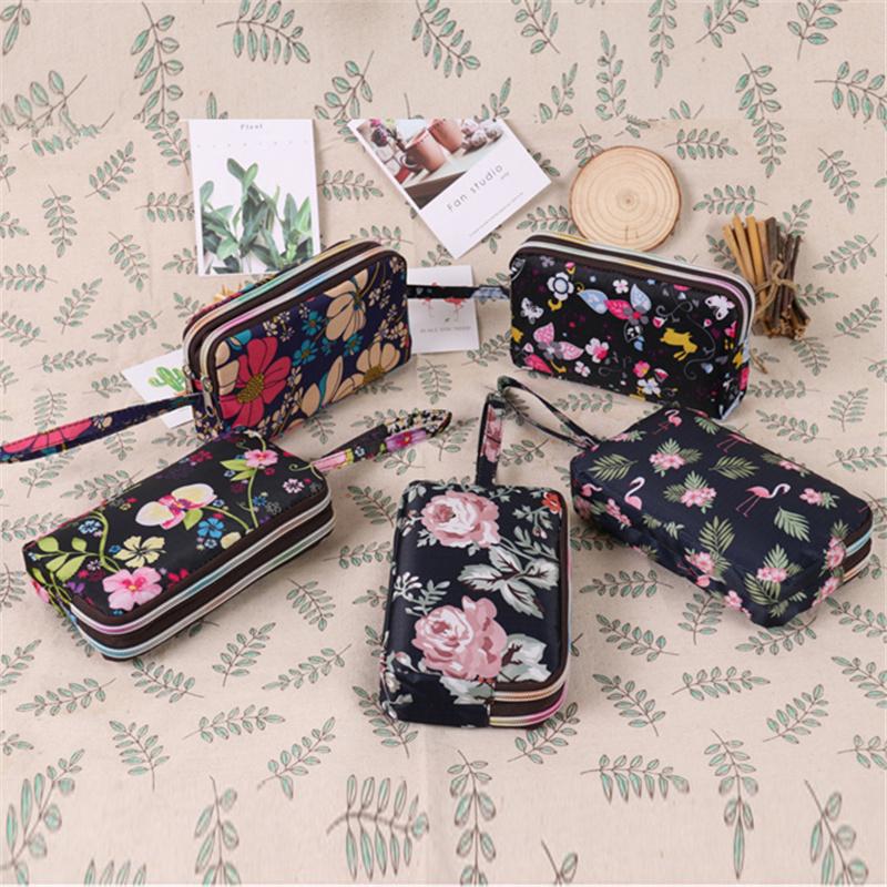 桃梓韩式两拉链钱包女手拿长款手机钥匙包零钱包大容量钱包包手挽