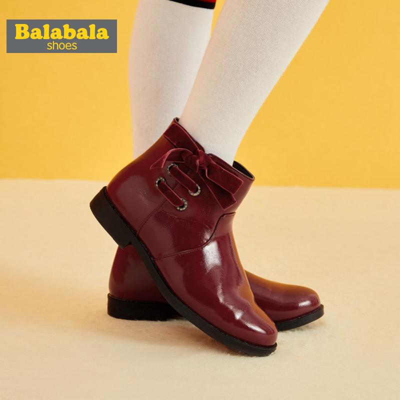巴拉巴拉 加绒女童短靴 马丁靴 天猫优惠券折后¥49.9包邮(¥99.9-50)33~38码2款4色可选