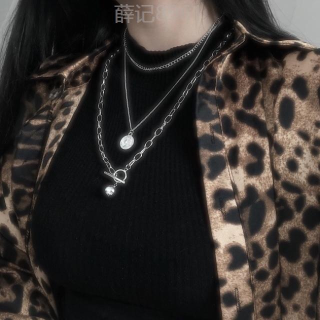 项链少女女创意夏季搭配百搭女生漂亮大方装饰品个性链子挂件锁骨