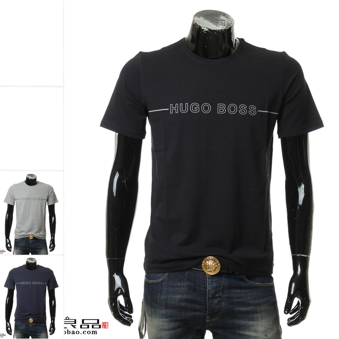 Hugo Boss 黑标 正品海外直邮男士短袖圆领T恤 50397030 10143871