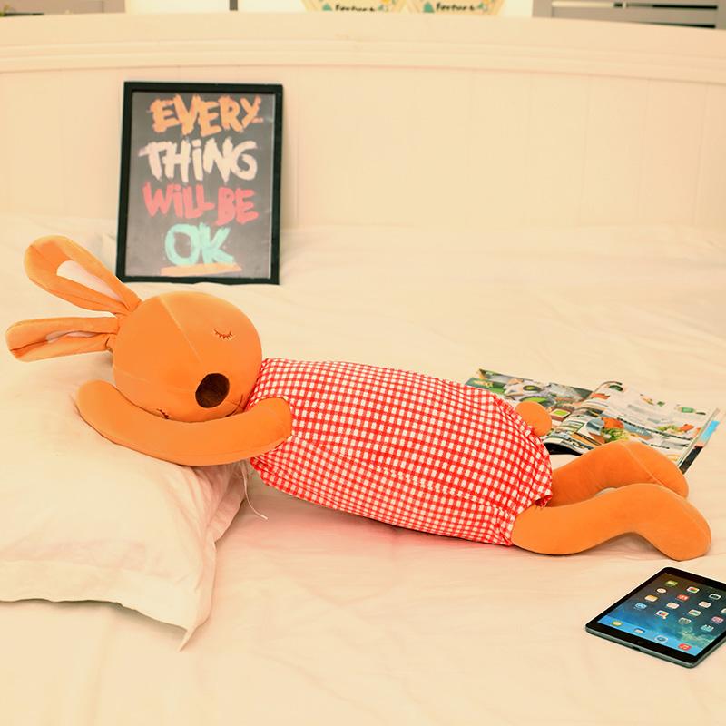 ¥9.90 【秒杀价】多功能可爱毛绒兔子抱枕
